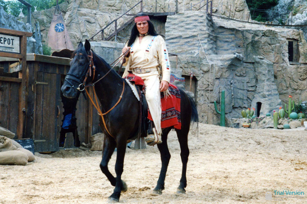 Gojko Mitic as Winnetou at the Bad Segeberg Karl May festival