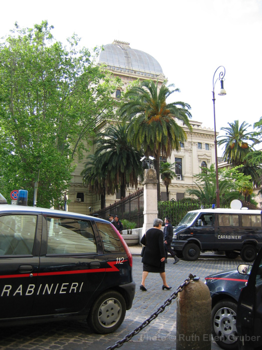 The main synagogue in Rome has been heavily guarded since 1982