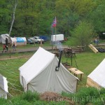At the Karl May Festival, Radebeul, Germany, 2005. Civil War reenactors' encampment. Photo ©Ruth Ellen Gruber