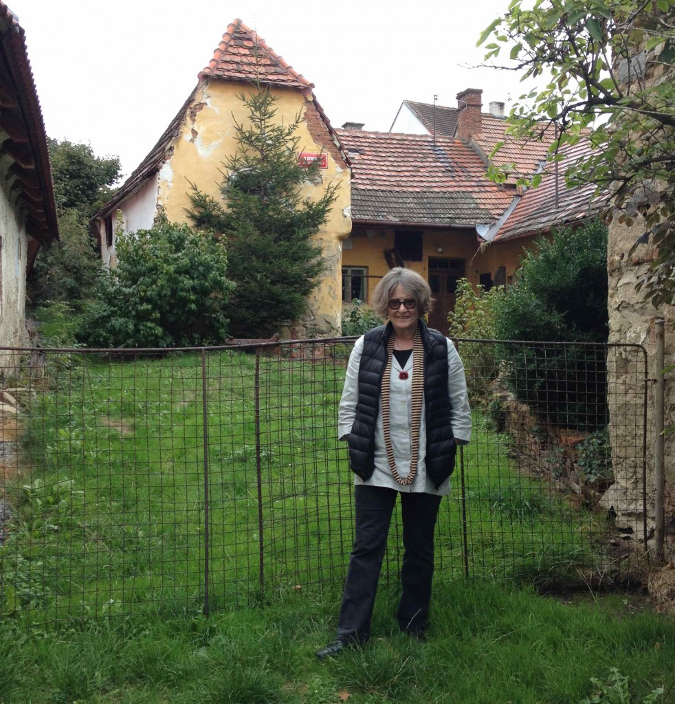 Me in front of the abandoned synagogue in Hostice, CZ