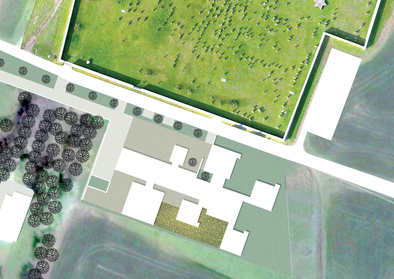 Position of planned Lost Shtetl museum